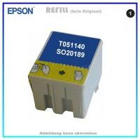 T051140 - SO20189 Epson Tintenpatrone schwarz neutral für Stylus Color 740,760,860,1160,Scan2000