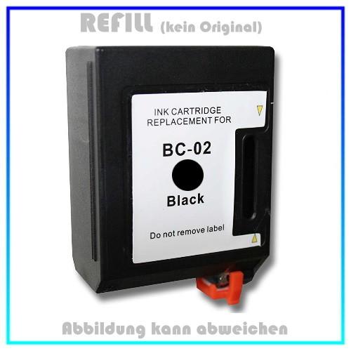 REFBC02 - BC02 Refill Canon Tintenpatrone Schwarz passend für Drucker Canon BJ 200 - BJ 210 - BJ 240