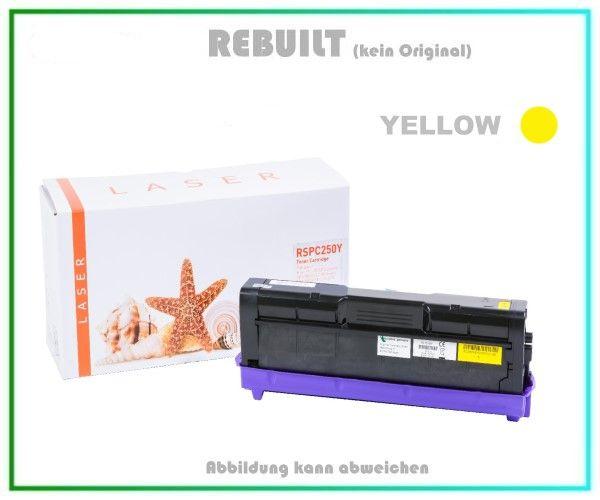 TONSPC250YE Alternativ Tonerkartusche Yellow für Ricoh - 407546 - SPC250YE - Inhalt ca. 1.600 Seiten