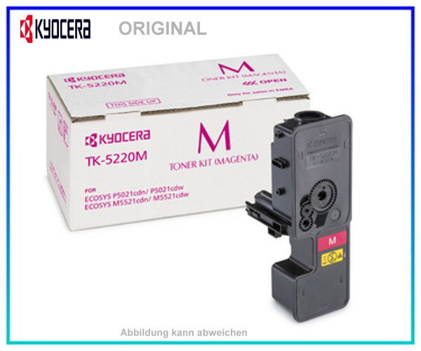 KYOCERA Toner Original Magenta TK-5220M - 1T02R9BNL1 - Inhalt: 1.200 Seiten