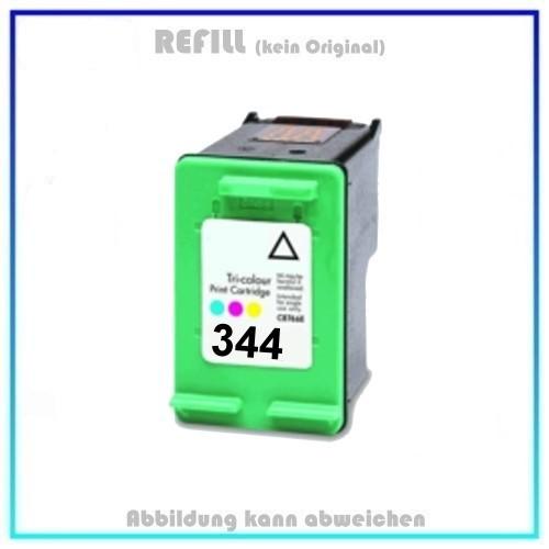 REF344 Refill Tinte Color für HP 344 - C9363EE - Inhalt 18ml, kein Original.