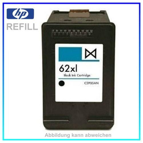 REF62XL Refill Tinte Black für HP - C2P05AE - Inhalt ca. 11,5ml - kein Original