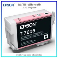 BULK T7606 Alternativ Tintenpatrone Light Magenta für Epson - C13T76064010 - Inhalt 32ml