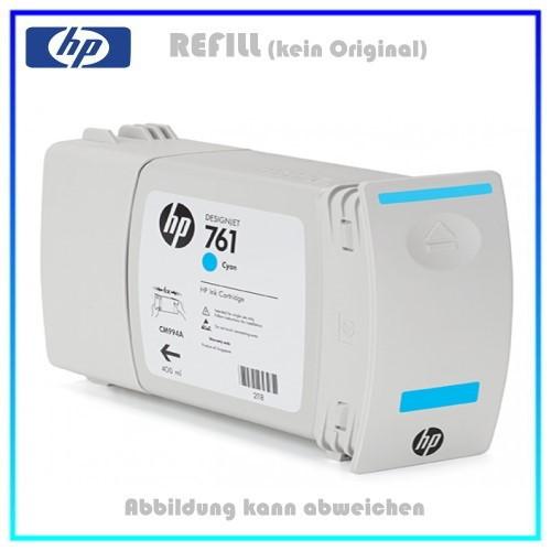 CM994A, 761, Refill Tintenpatrone Cyan für HP CM994A, Designjet T7100 Plotter, Inhalt 400ml