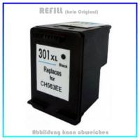 HP-301BKXL, REF301BK XL Refilltintenpatrone Black - HP CH563EE - passend für HP Deskjet 1000 - 1050