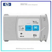 C5061A Nr. 90 Refill Tintenpatrone Cyan HP C5061A Design Jet 4000, 4020, 4500, 4520, Inhalt 400 ml.