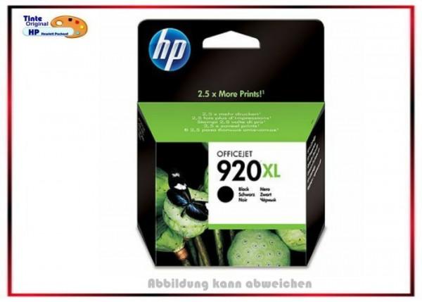 HP-920XLBK, CD975AE, Original OfficeJet, Tintenpatrone Black für HP 920BK XL, CD975AE - Inhalt 49ml.