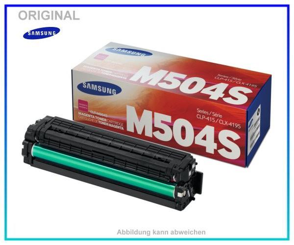 CLP415M - CLT-M504S/ELS - Original - Toner Magenta fuer Samsung CLP415 - CLX4195 - ca. 1.800 Seiten