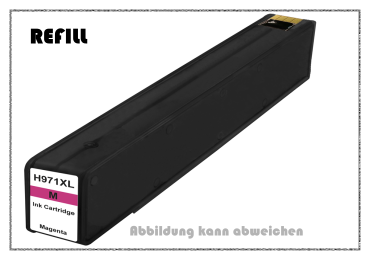 REF971XLM - 971XLM - HP970 - HP971 - Refill Tintenpatrone Magenta für HP - CN627AE - Inhalt ca. 110m