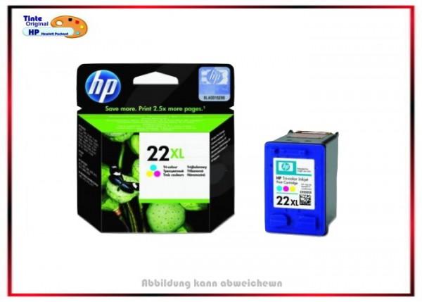 Nr.22XL - C9352CE - Original Tinte Color f. HP DJ 350C - DJ 600C - DJ 660C, DJ 670C , DJ 672C, 18ml