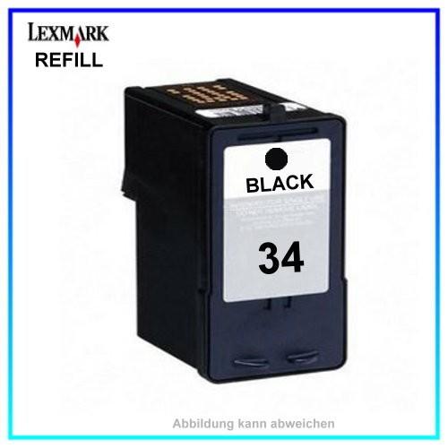 18C0034 (No.34 = 32 + 28) Tinte schwarz refill f. Lexmark P315 - Inhalt ca. 21ml