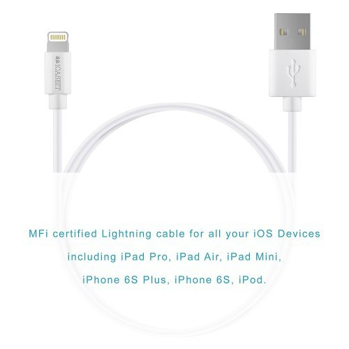 Lightning Kabel [Apple MFI zertifiziert] iCASEIT Lightning zu USB Kabel für iPhone X, 8 & 8 Plus, 7,