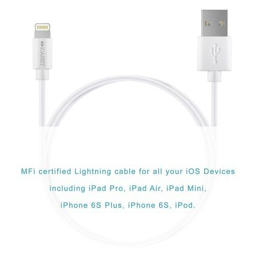 Lightning Kabel [Apple MFI zertifiziert] iCASEIT Lightning zu USB Kabel für iPhone X, 8 & 8 Plus, 7,