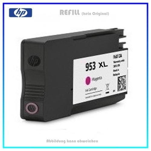 REF953XLM Refill Tintenpatrone Magenta für HP - F6U17AE - HP953XLM - HP953 - Inhalt ca. 26ml