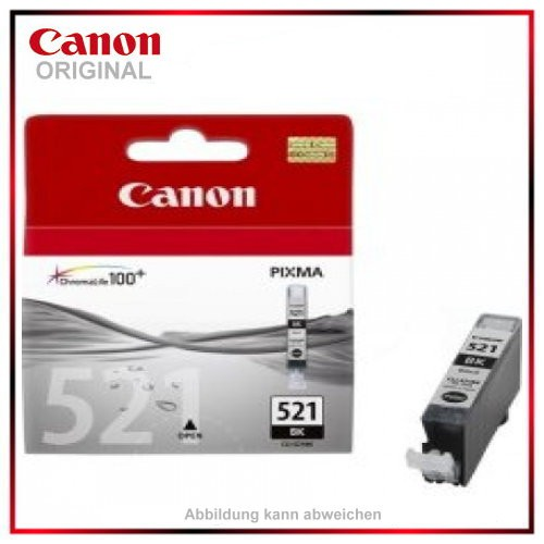 CLI521BK - 2933B001 - Black original Tintenpatrone f. Canon Pixma MP 620 - IP 4600 X - MP 540 - MP