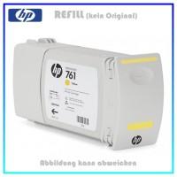 CM992A, 761, Refill Tintenpatrone Yellow für HP CM992A, Designjet T7100 Plotter, Inhalt 400ml
