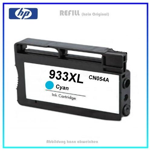 REF933CXL Refill Tintenpatrone Cyan für HP - CN054AE - Inhalt ca. 13ml (kein Original)