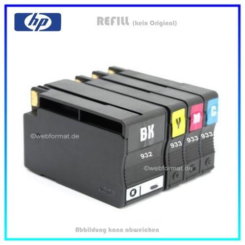 Multipack 932XL/933XL Alternativ Tintenpatronen HP - CN053AE - BK=47ml - C,M,Y=13ml, kein Original