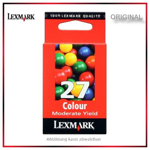 Nr.27 - 10NX227E - Original Lexmark Tintenpatrone Color für 10N0227E - 10NX227E - NR-27