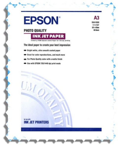 C13S041068 EPSON FOTOPAPIER A3 100BLATT 105GR MATT