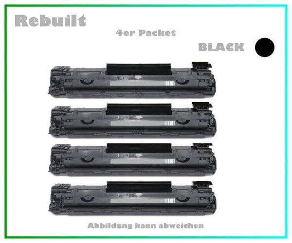 4er Set TONCE285A Alternativ Toner Black für HP - CE285 Inhalt fuer 4 x 1.600 Seiten.
