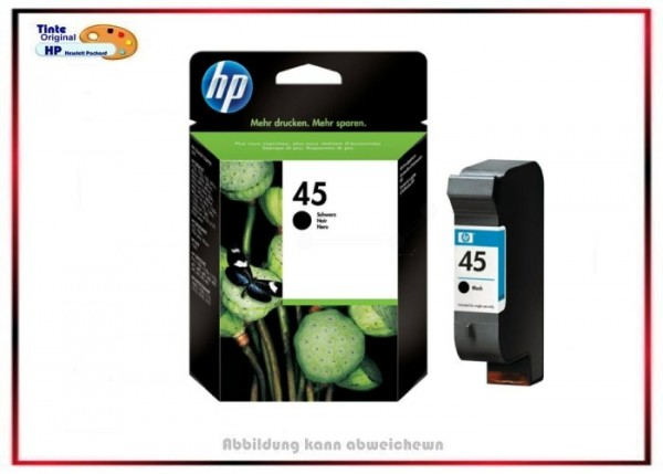 Nr.45, 51645AE, HP Original Tintenpatrone Black für 51645AE - Inhalt 42 ml