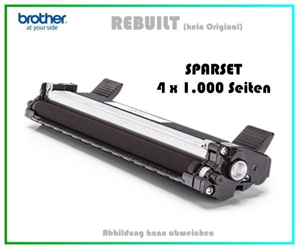 4er Set TONTN1050 - Alternativ Brother TN1050 Lasertoner Black - Inhalt 4 x ca. 1.000 Seiten.