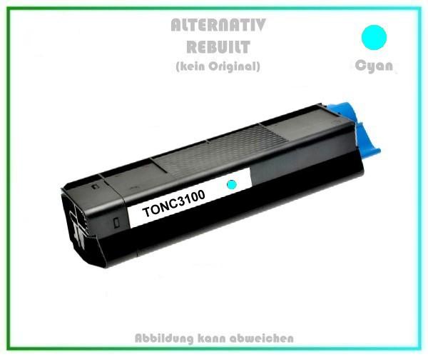 TONC3100 Alternativ Toner C3100, Cyan für OKI - 42804515 - Inhalt 4.500 Seiten