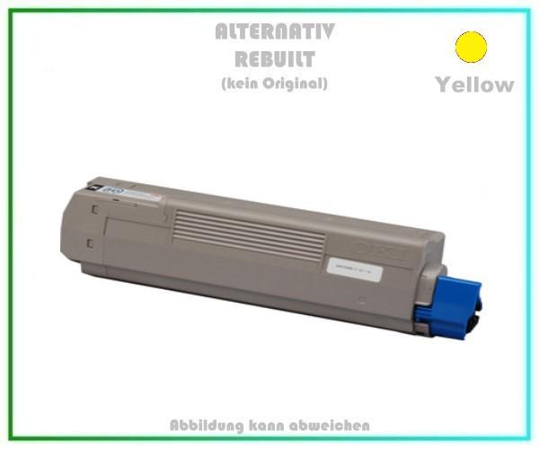 TONC610 Alternativ Tonerkartusche Yellow für OKI C610, 44315305 - Inhalt 8.000 Seiten kein Original
