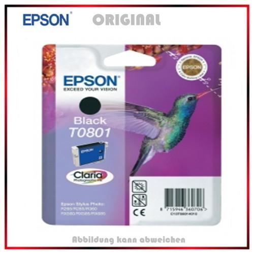 T080140 - C13T08014010 - Epson Original Black Tintenpatrone - C13T08014011 - C13T08014010
