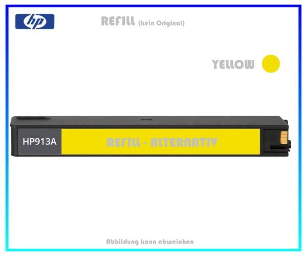 REF913Y Refill Tintenpatrone Yellow für HP F6T79AE - 913Y - HP913 - Inhalt ca. 55ml