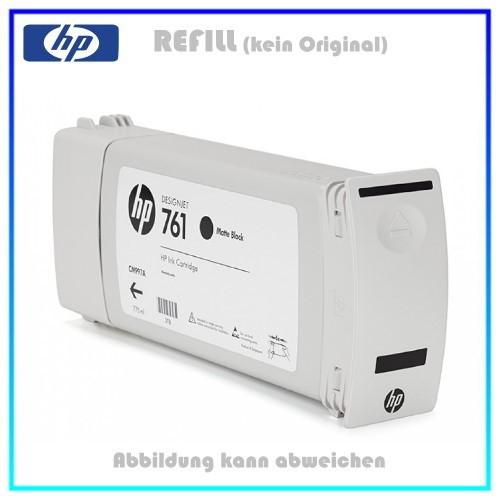 CM997A, 761, Refill Tintenpatrone Black Pigment für HP CM997A, Designjet T7100 Plotter, Inhalt 775ml