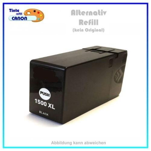 PGI1500XLBK BULK Alternativ Tinte Black für Canon - 9182B001 - Inhalt ca. 38ml