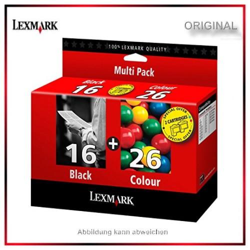 Kombipack 80D2126 - Lexmark Original Tintenpatrone - Black & Color - Nr.16 & Nr.26 - 80D2126