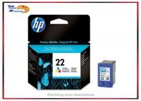 HP-22, C9352AE, Original Tintenpatrone Color für HP C9352AE - Inhalt 5 ml