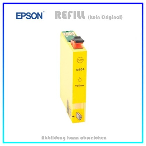 T0804 Epson Alternativ Tintenpatrone Yellow - C13T08044010 - Inhalt ca. 15ml