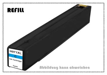 REF971XLC - 971XLC - HP970 - HP971 - Refill Tintenpatrone Cyan für HP - CN626AE - Inhalt ca. 110ml -
