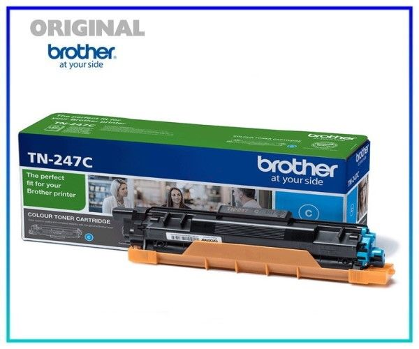 TN247C - Original Brother TN247-C Toner Cyan = 2.300 Seiten.