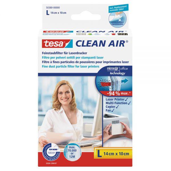 Tesa Clean Air, Größe L, Feinstaubfilter für Laserdrucker, Größe L