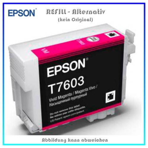 BULK T7603 Alternativ Tintenpatrone Magenta für Epson - C13T76034010 - Inhalt 32ml