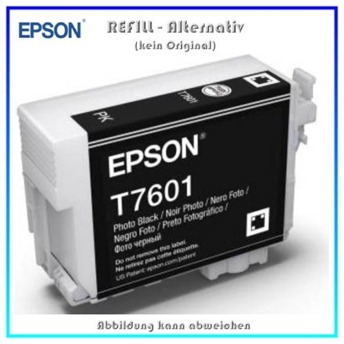 BULK T7601 Alternativ Tintenpatrone Photo Black für Epson - C13T76014010 - Inhalt 32ml