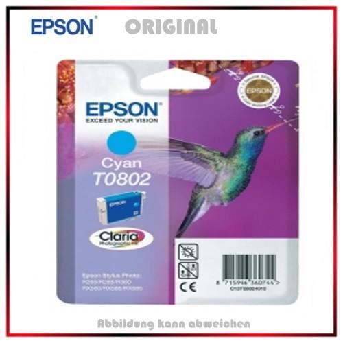 T080240 - C13T08024010 - Epson Original Cyan Tintenpatrone - C13T08024011 - C13T08024010