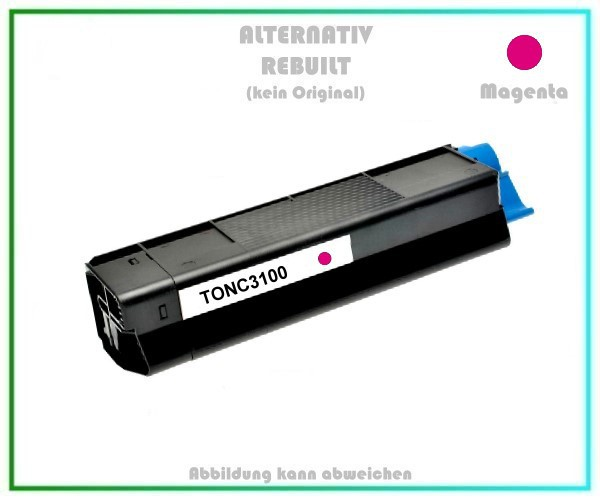 TONC3100 Alternativ Toner C3100, Magenta für OKI - 42804514 - Inhalt 4.500 Seiten