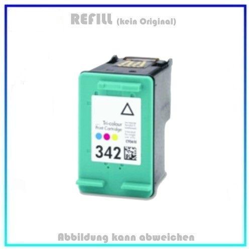 REF342 Refilltintenpatrone Color, 342, (C9361) - 15 ml, passend für HP Desjet 6540