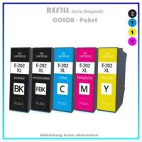 Multipack T0202XL, C13T02G74010, Alternativ Tinte für Epson - BK=20ml, PBK-CMY=12ml (PATENT SAFE)