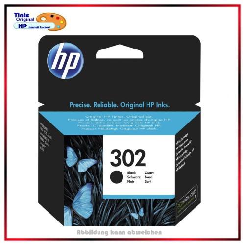 Nr.302 - HP-302, F6U66AE - Black original Tinte fuer F6U66AE - HP Nr 302 - Inhalt ca.190 Seiten.