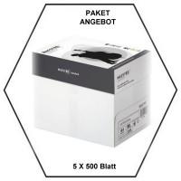 Kopierpapier A4 - 5 x 500 Blatt = 1 Karton - 80g/m² - holzfrei