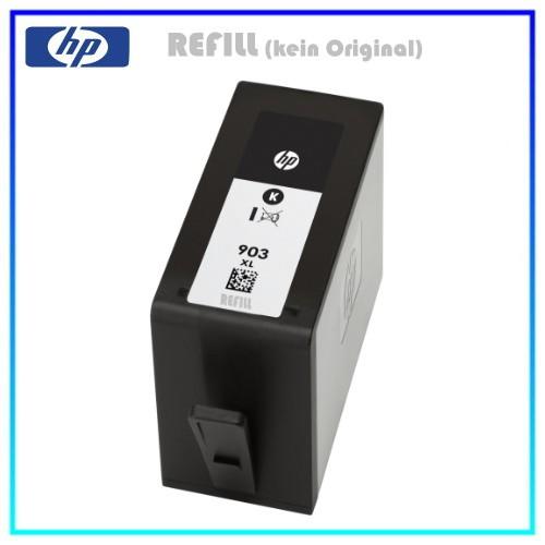 REF903XLBK Refill Tinte Black für HP - T6M15AE - Inhalt ca. 37ml (kein Original)