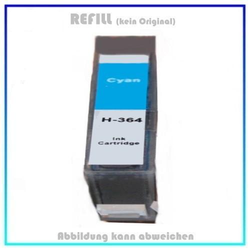 364C Alternativ Tinte Cyan für HP - CB323EE - Inhalt 14,2ml, mit Chip.