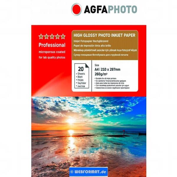 AgfaPhoto Professional Photo Paper High Gloss 260 g A 4 20 Blatt.